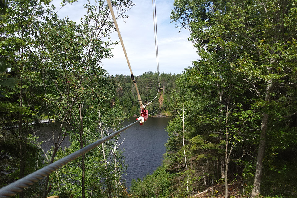 Zipline<br/> Location:  Miramichi, NB<br/> Length:  up to 1,000ft per run<br/> Constructed:  2017
