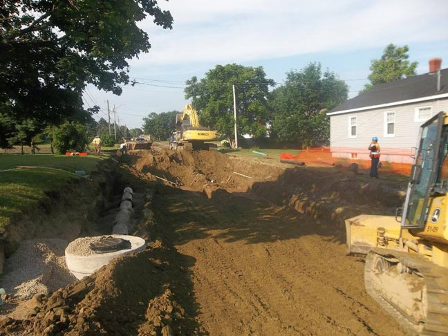 Street Upgrades for Water and Sewer<br/> Location:  Miramichi, NB<br/> Constructed:  2016